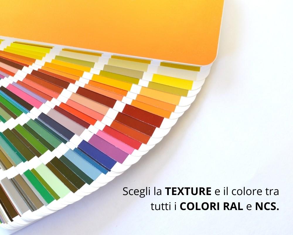 Texture colori RAL e NCS per rivestimenti in biomalta Sardegna